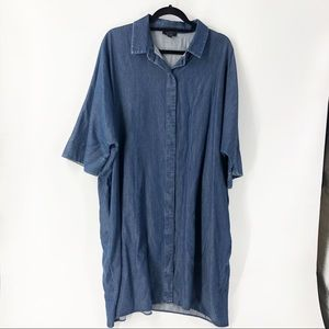 COS LG Button Front Chambray Dress with Pockets